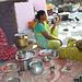 Preparing food item for poor widows