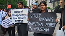 Protest against Blasphemy Law in London