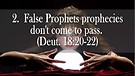 6 Marks of a False Prophet