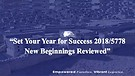 Set Your Year for Success 2018/5778 New Beginnin...